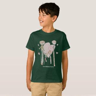 Love Makes a Family by Annika--Kids' Dark Green T T-Shirt