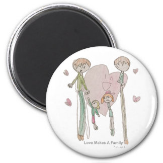 Love Makes a Family by Annika--Magnets Magnet