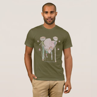 Love Makes a Family by Annika--Men's Olive T-Shirt