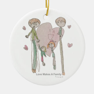 Love Makes a Family by Annika--Ornament Round Ceramic Decoration