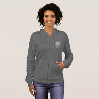 Love Makes a Family by Annika--Women's Grey Hoodie