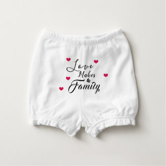 Love Makes a Family - Foster Care Adoption Nappy Cover