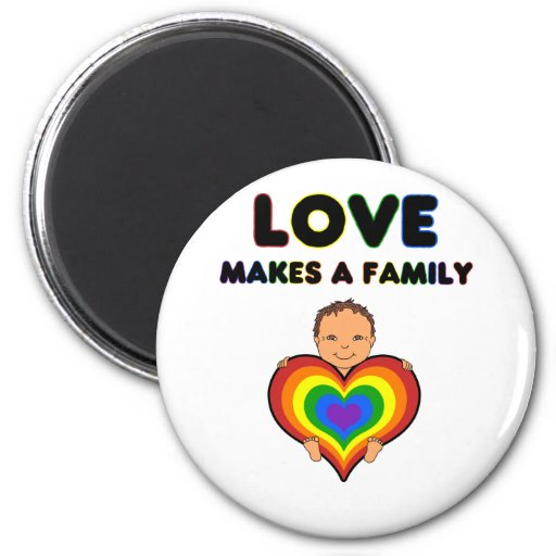 Love Makes a Family Tan Skin Baby Magnet