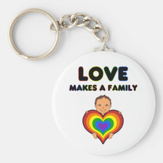 Love Makes a Family Tan Skin Keychain