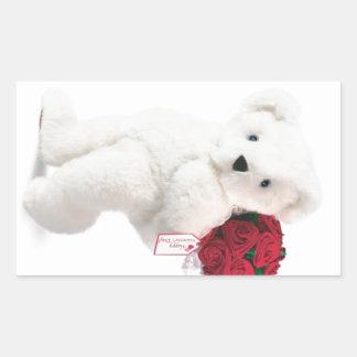 Love Makes Life Bearable! Rectangular Sticker