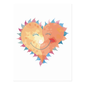 Love Makes Me Smile Postcard
