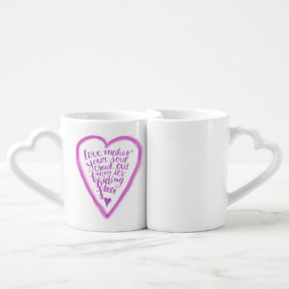 Love makes your soul crawl out coffee mug set