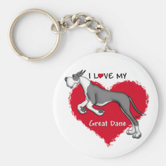 Love Mantle Great Dane Key Ring