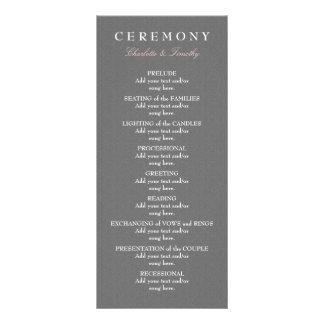 Love & Marriage Modern Wedding Program Rack Card