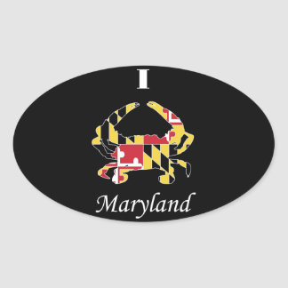 Love Maryland Oval Sticker