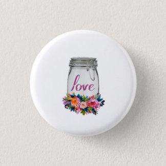 Love - Mason Jar 3 Cm Round Badge