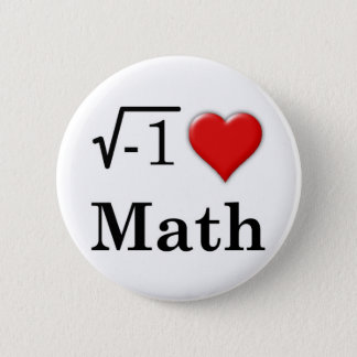 Love math 6 cm round badge