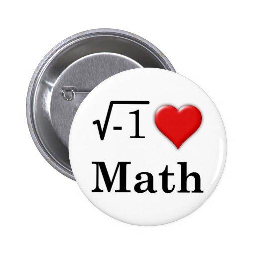 Love math pinback buttons