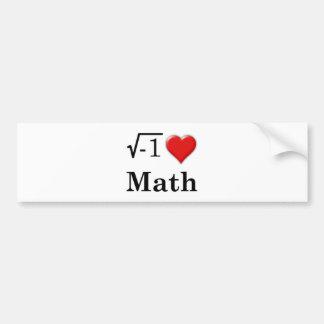 Love math bumper sticker