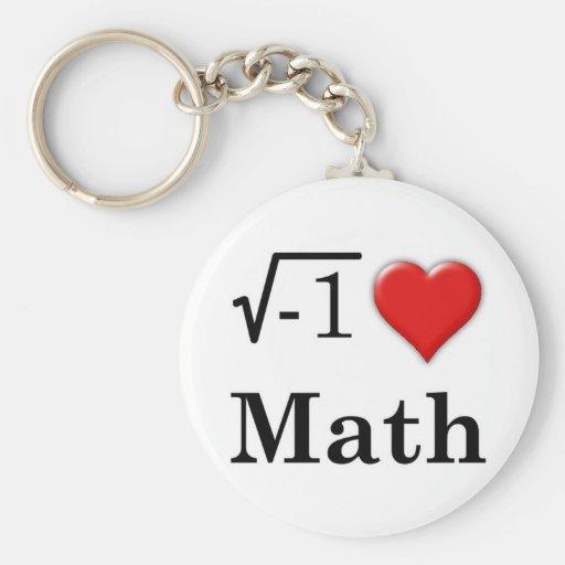 Love math keychain