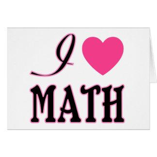 Love Math Pink Heart Logo Greeting Card