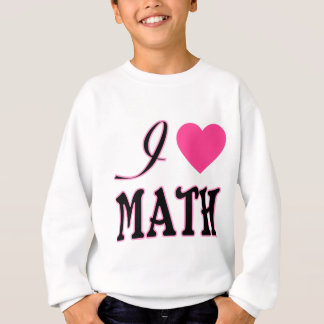 Love Math Pink Heart Logo Sweatshirt