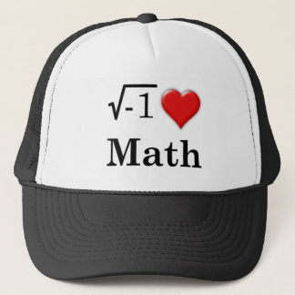 Love math trucker hat