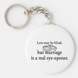 Love May Be Blind Basic Round Button Key Ring