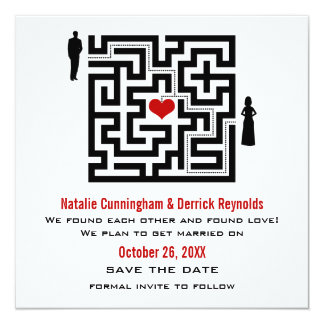Love Maze Save the Date Invite