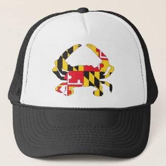 Love MD Flag Crab Trucker Hat