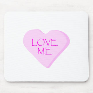 Love Me Candy Heart Mousepads