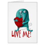 LOVE ME! Cute Guy Greeting Card