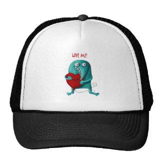 LOVE ME Cute Guy Trucker Hat