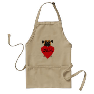 """Love Me"" dog custom apron"