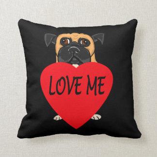 """Love Me"" dog custom pillows"