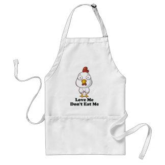 Love Me Don't Eat Me Hen Design Standard Apron