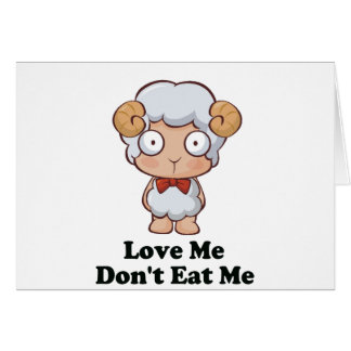Love Me Don't Eat Me Sheep Design Greeting Cards