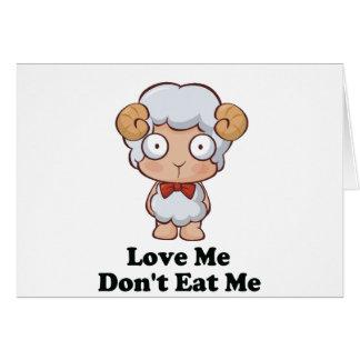 Love Me Don't Eat Me Sheep Design Greeting Card