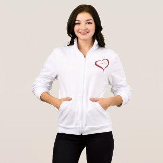 Love Me Heart Fleece Zip Jogger for women