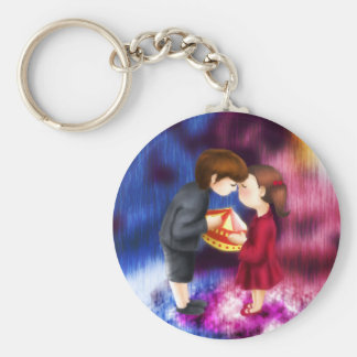 Love Me if you Dare Basic Round Button Key Ring