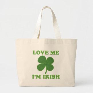 Love Me Im Irish Jumbo Tote Bag