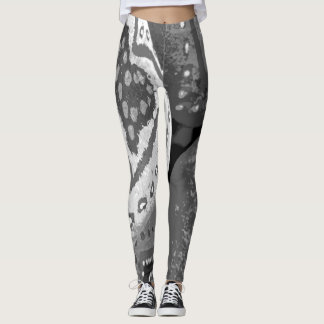 Love Me Like a Rock Black and White Leggings