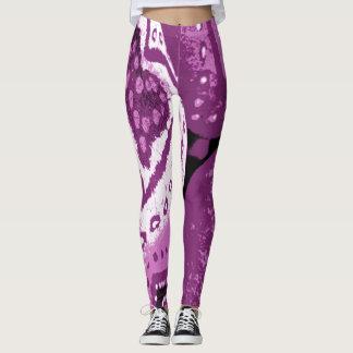 Love Me Like a Rock Purple Leggings