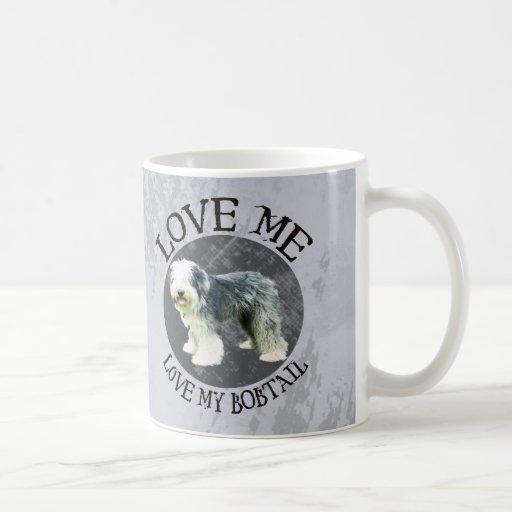 Love me, love my Bobtail Basic White Mug