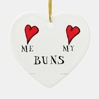 love me love my buns, tony fernandes ceramic heart decoration