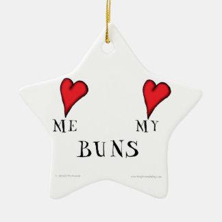 love me love my buns, tony fernandes ceramic star decoration