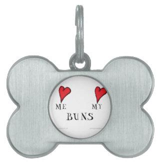 love me love my buns, tony fernandes pet name tag
