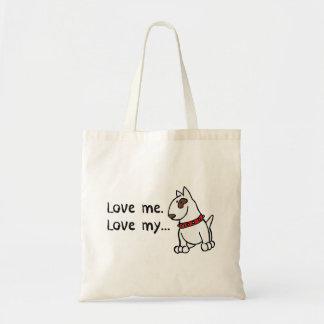 Love Me Love My Dog English Bull Terrier Bag
