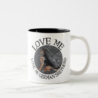 Love me, love my German Shepherd Mugs