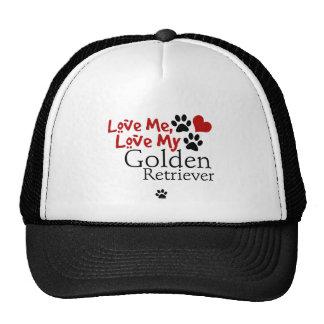 Love Me, Love My Golden Retriever Mesh Hat