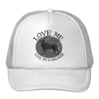 Love me, love my Labrador Cap