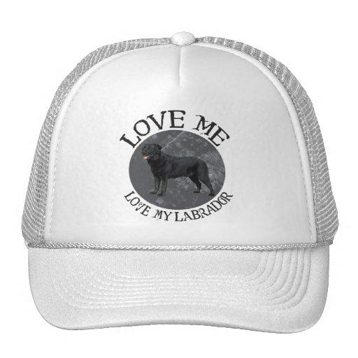 Love me, love my Labrador Mesh Hats
