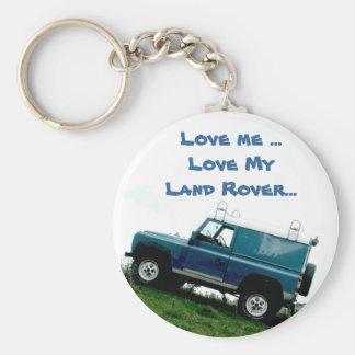 Love me ...Love My Land rover ...key chain Key Ring