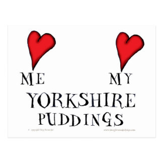 love me love my yorkshire puddings, tony fernandes postcard