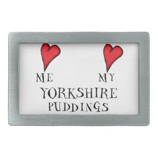 love me love my yorkshire puddings, tony fernandes rectangular belt buckles